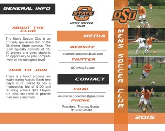 Men's Soccer Brochure